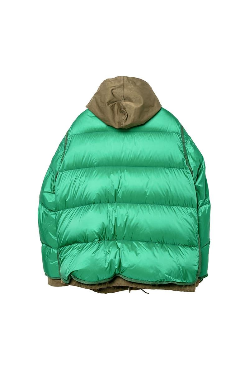 사카이 x 텐씨, 스포츠웨어와 밀리터리 빈티지를 버무린 2020 가을, 겨울 협업 아우터 컬렉션, 롱 파카, 다운 재킷, 아베 치토세