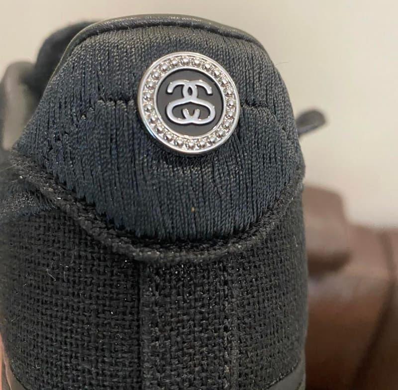 스투시 x 나이키 에어 포스 1 '올 블랙' 컬러웨이가 공개됐다, 포실, 파슬 스톤, 자수, 삼베,