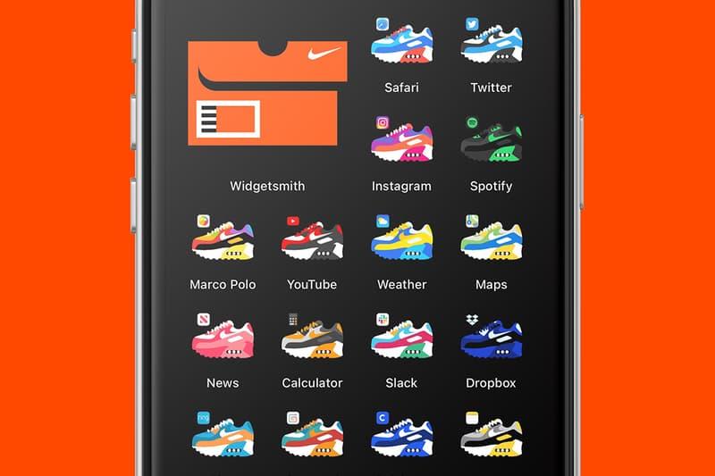 iOS 14 전용 '에어 맥스 90 아이콘 팩' 출시, 아이폰, 나이키, 위젯, 슈박스