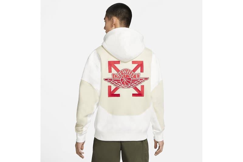 오프 화이트 x 조던 브랜드 의류 캡슐 컬렉션의 실제 모습은?, 협업 에어 조던 5 '세일', 버질 아블로, 후디, 티셔츠