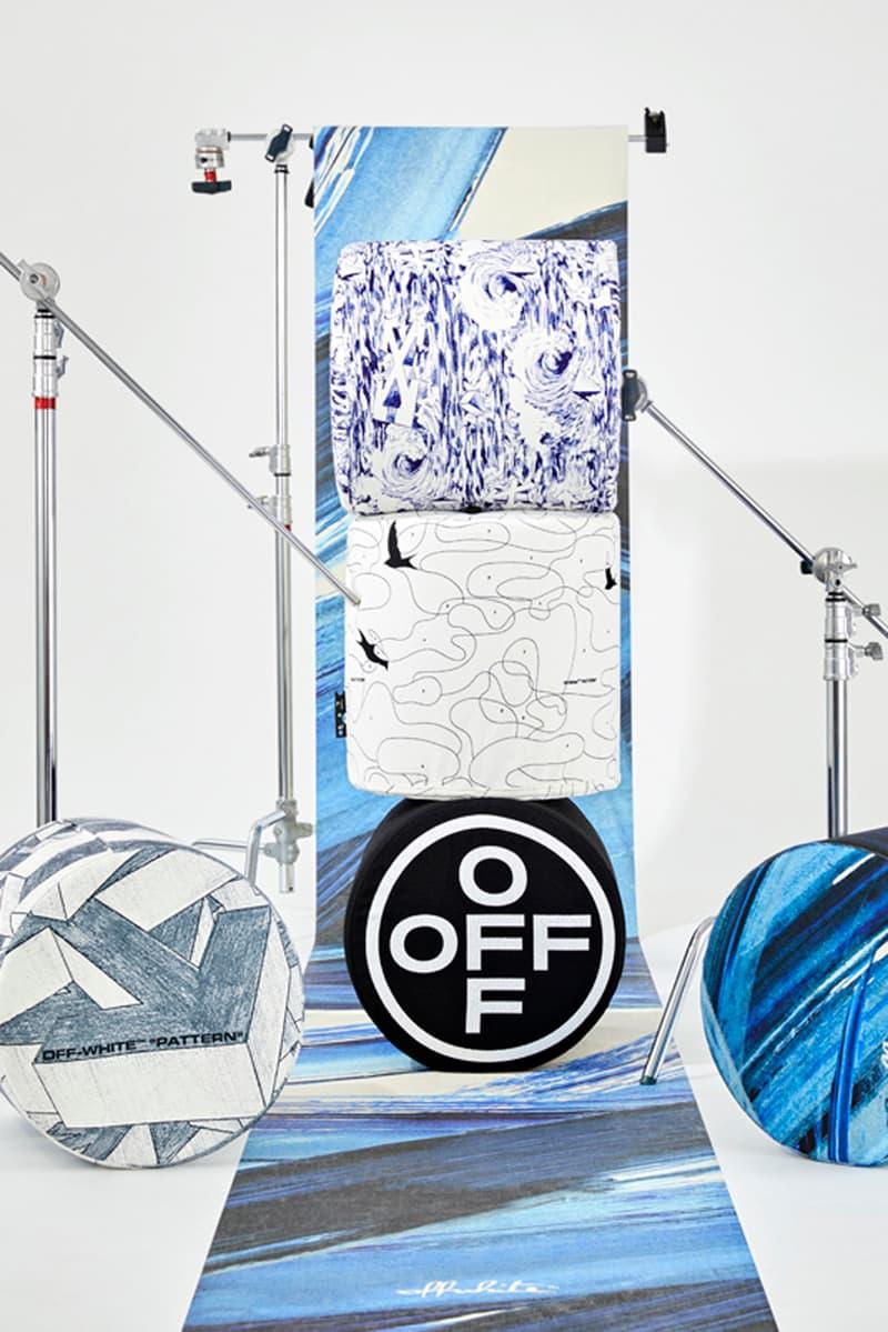 파자마 및 슬리퍼 포함, 오프 화이트 홈의 두 번째 컬렉션 출시 정보, 배스 로브, 슬립 웨어, 잠옷, 우산 꽂이, 베개, 도어 매트, 옵화, 옾화, 버질 아블로, 퍼스트 딥스