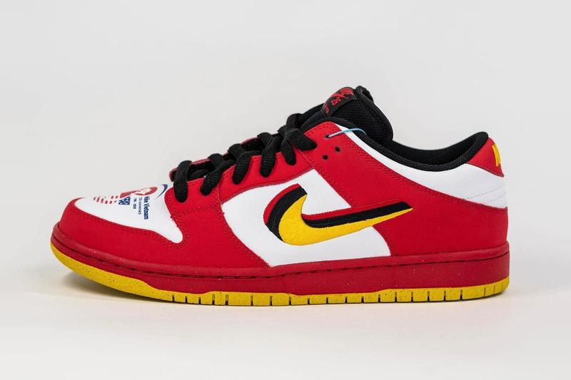 나이키, 신발 제조사 '칭 러'와의 25주년을 기념하는 SB 덩크 로우 '베트남' 출시, 한정판 스니커