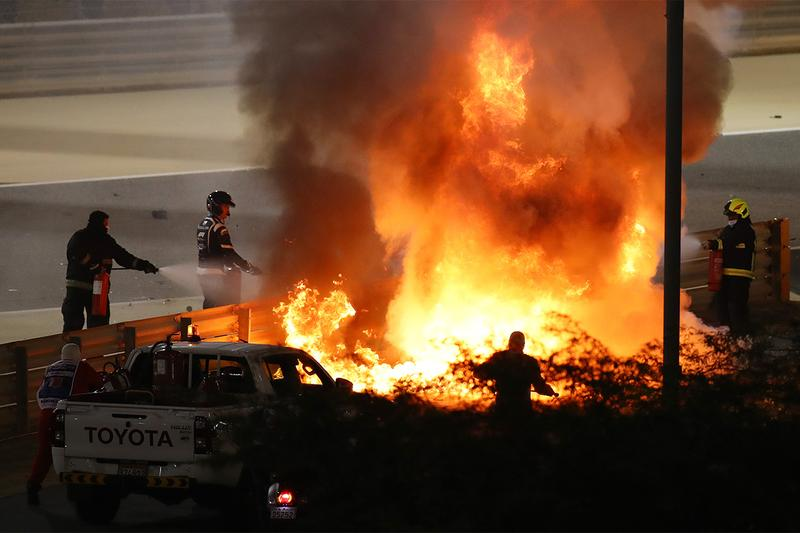 F1 드라이버 로만 그로장이 사고로 폭발한 차에서 극적으로 탈출했다, 하스, 포뮬러 원
