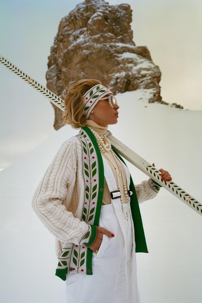 눈 덮인 산에 어울리는, 카사블랑카 '스키 클럽' 컬렉션 출시, 샤라프 타제르, 겨울 스포츠, 만년설, 이탈리아, 프랑스