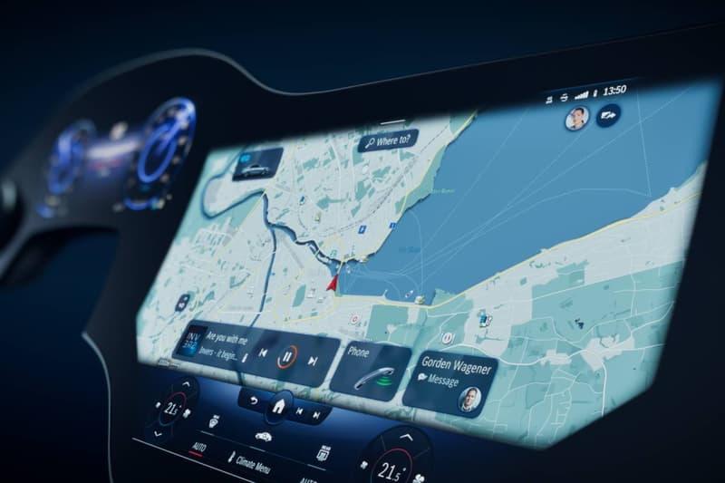 메르세데스-벤츠, 인공지능 탑재한 56인치 '하이퍼스크린' 디스플레이 공개, CES 2021