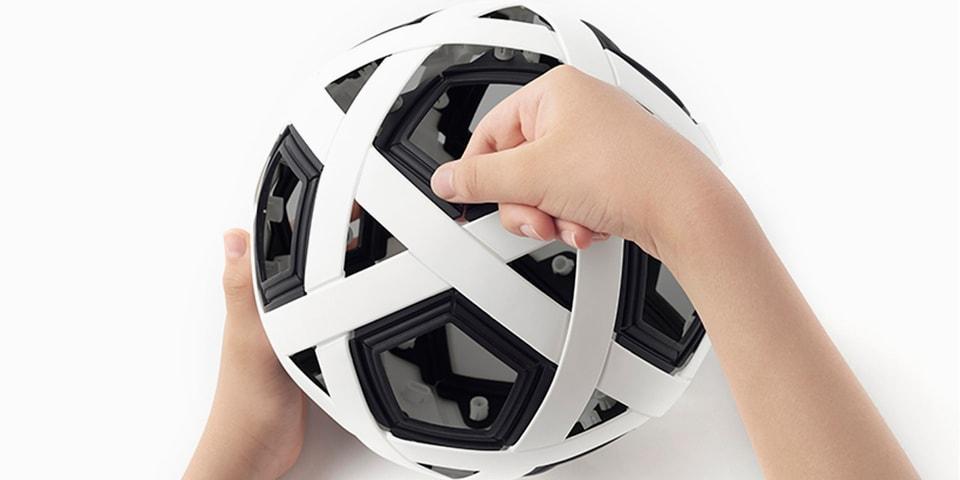바람을 넣지 않아도 되는 '조립식 축구공'이 출시된다