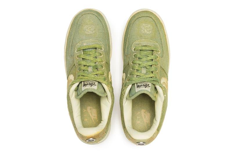 천연 염색으로 탄생한 스투시 x 나이키 '핸드 다이드 에어 포스 1' 상세 사진, 한정판, 숀 스투시, 룩아웃 앤 원더랜드, 자연 염색, 식물 염색