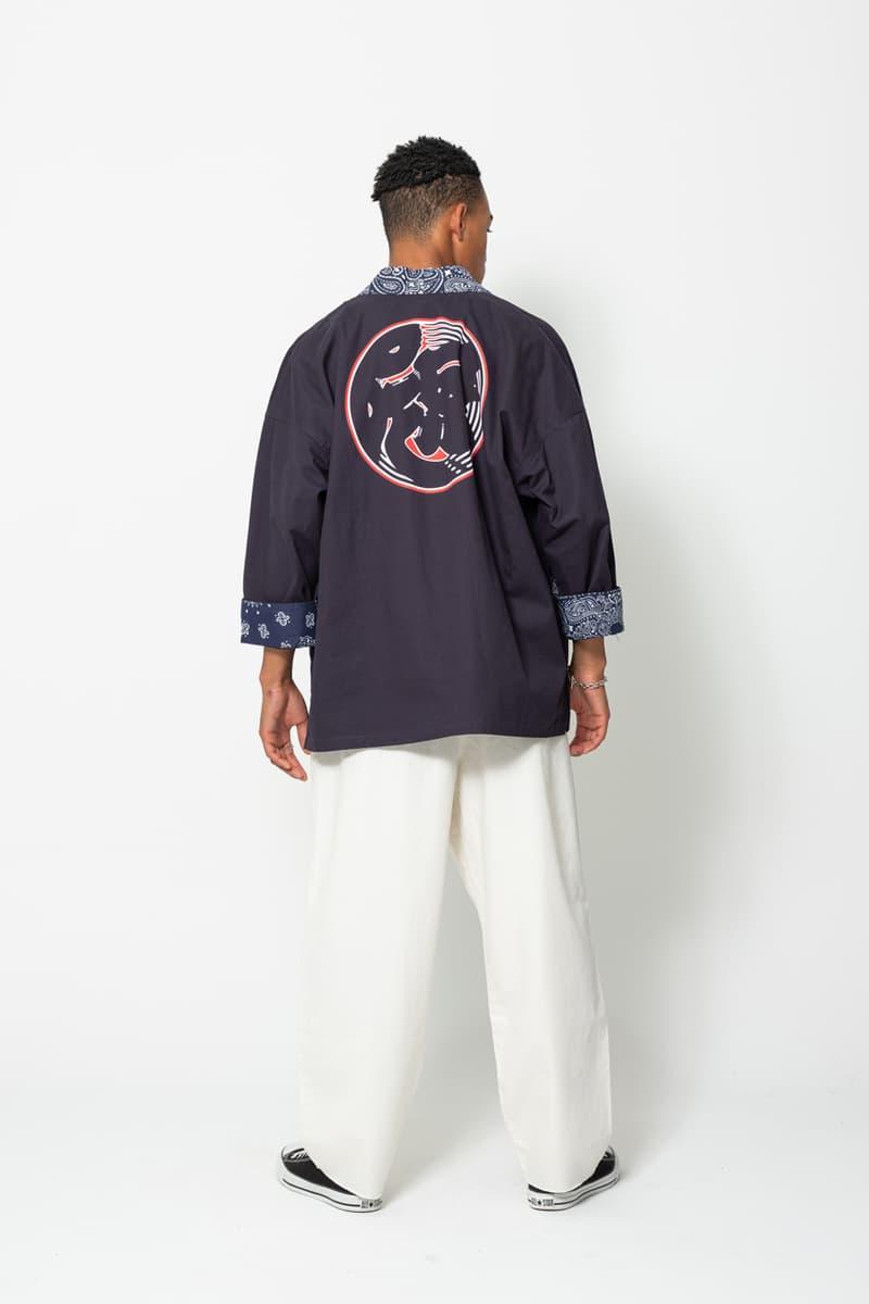 다양한 분위기로 꾸며진 베드윈 앤 더 하트브레이커스의 2021년 봄, 여름 컬렉션, 레오파드 패턴, 노라기셔츠, 보일러슈트