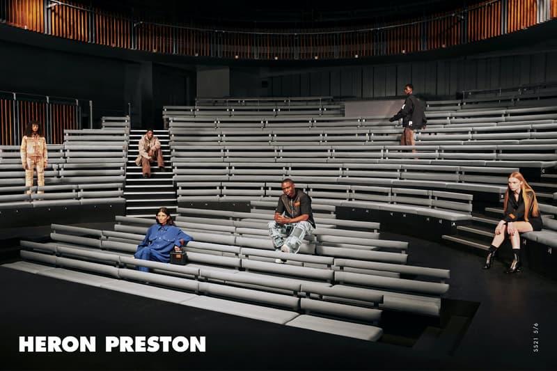 헤론 프레스톤 2021 봄, 여름 컬렉션 'K.I.S.S.' 캠페인 공개, 재활용 직물, 폴리에스터, 나일론, 후디, 워크웨어
