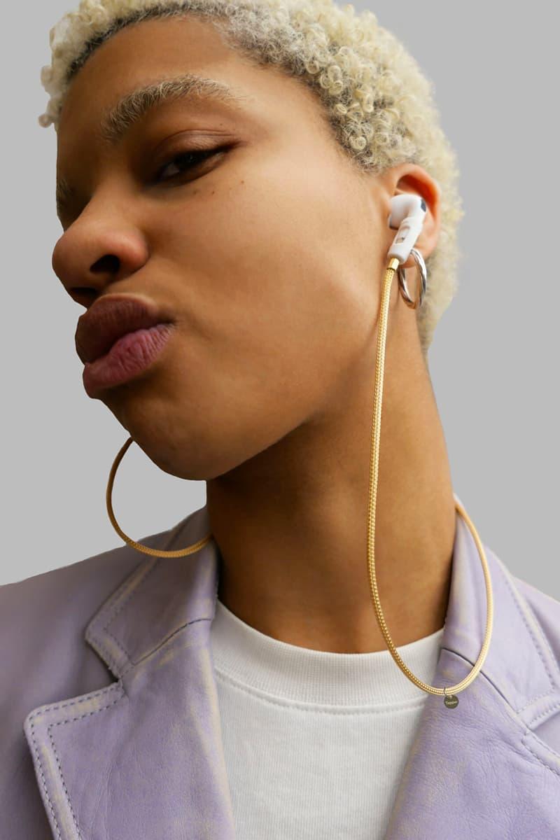 3백90만 원짜리 에어팟 액세서리? 태퍼, 에어팟용 솔리드 18K 골드 메시 체인, 스트랩, 이어폰, 무선 이어폰, 블루투스