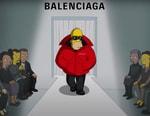 '심슨 가족' 애니메이션으로 소개된, 발렌시아가 2022 여름 컬렉션