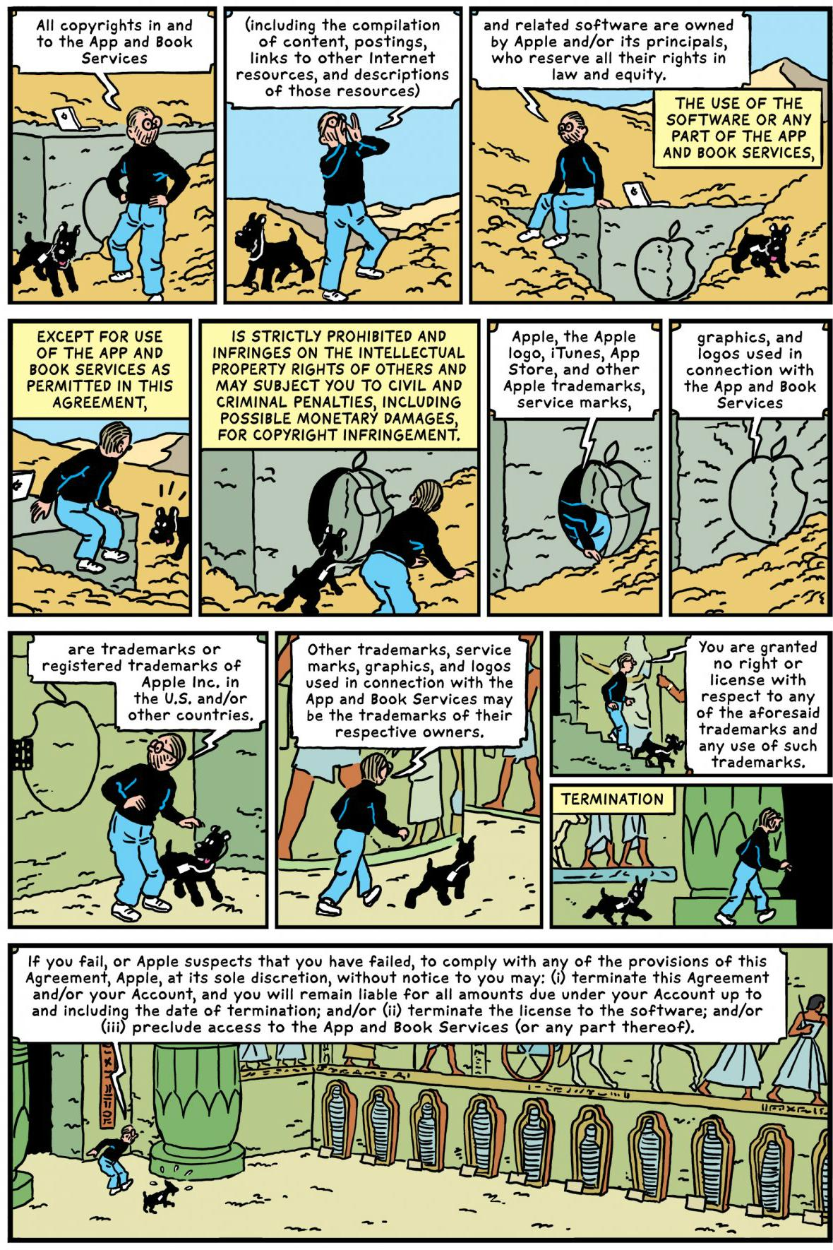 Apple Terms And Conditions Graphic Novel Comic